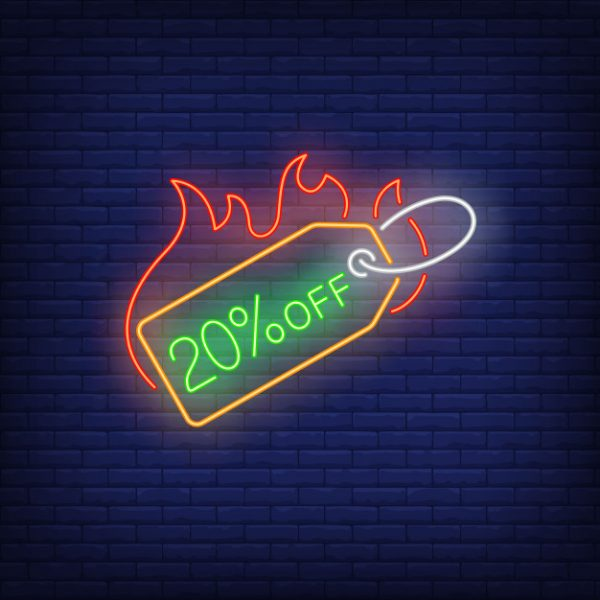 20-percent-discount-label-fire-neon-sign_1262-20694
